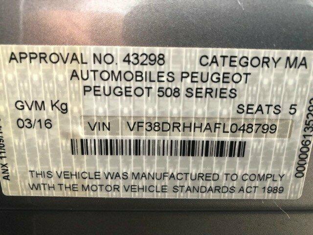 2015 Peugeot 508 Allure Sedan